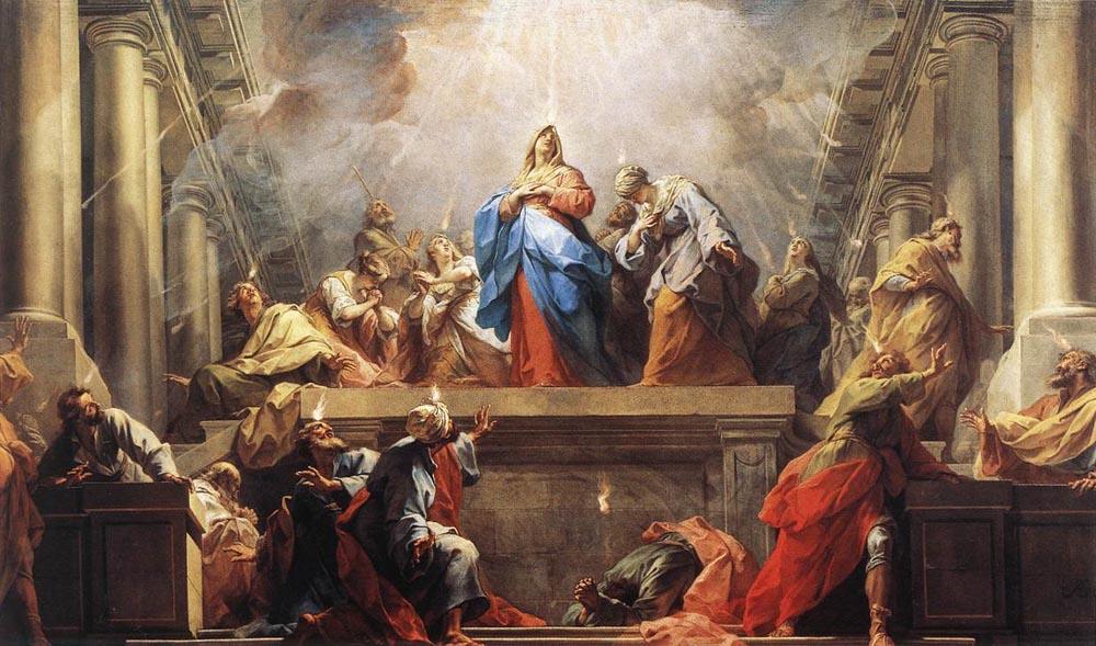 Painting - 'Pentecost' by Jean II Restout, 1732. Louvre Museum. Wikimedia Commons.