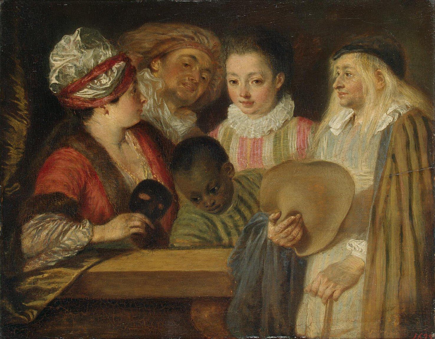 Actors of the Comedie-Francaise by Jean-Antoine Watteau (1711-1718)